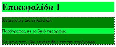 Η ιδιότητα CSS Background