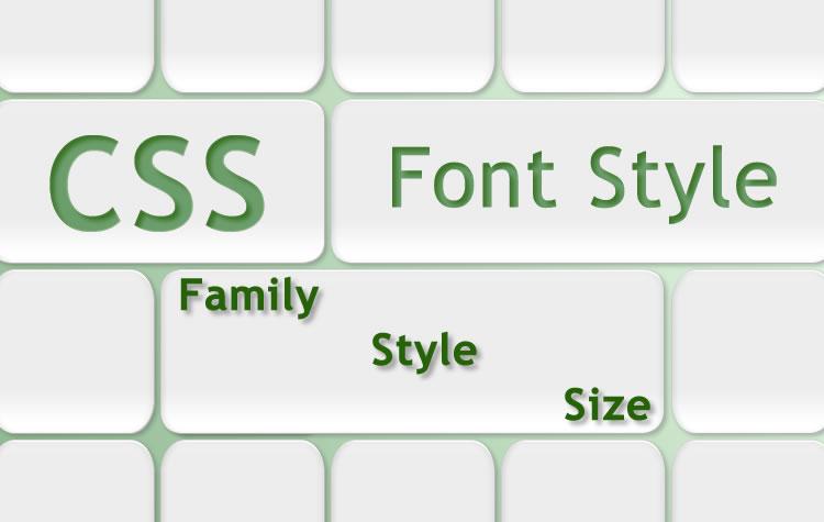 CSS στυλ γραμματοσειράς