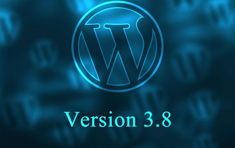WordPress έκδοση 3.8